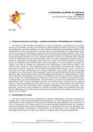 1 L'annotation qualifiée du discours transcrit - Icar