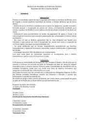 Relatório de Actividades do ano de 2012 - Ordem dos Notários