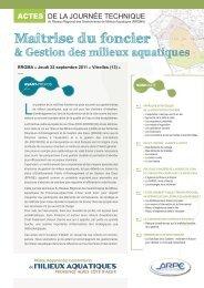actes de la journée - Réseau Régional des Gestionnaires de Milieux ...