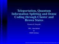 Teleportation, Quantum Information Splitting and Dense Coding ...