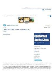 Weizhi PRS-6 Power Conditioner - weizhi precision