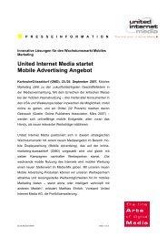 United Internet Media startet Mobile Advertising Angebot