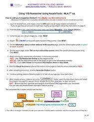 Citing *CQ Researcher Using NoodleTools: MLA 7 ... - Alamo Colleges