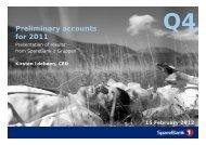 Preliminary accounts for 2011 - Investor Relations - IR - SpareBank 1