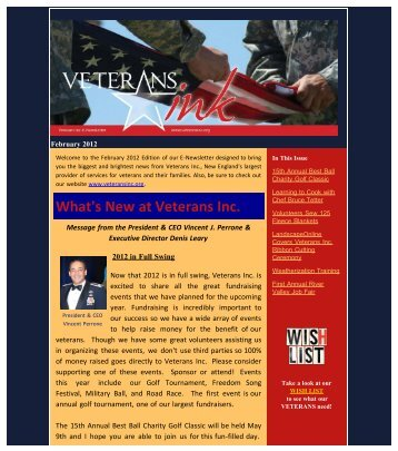 What's New At Veterans Inc.