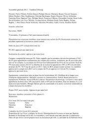 Assemblée générale 2012 – Triathlon Fribourg Présents: Patric ...