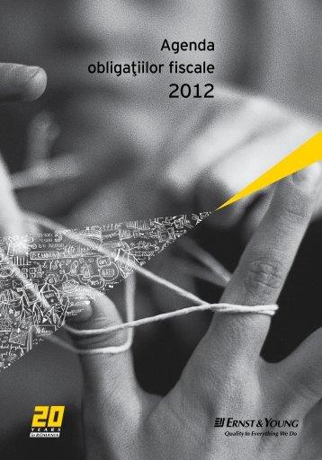 Agenda obligatiilor fiscale 2012