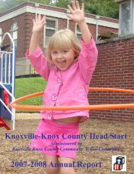 2007-2008 Annual Report - Tennessee Head Start