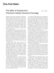 The ABCs of Employment Practices Liability Insurance Coverage
