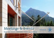 Meetings & Events - Hotel Belvédère Scuol