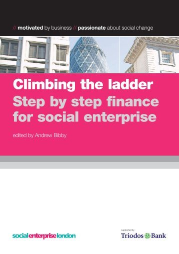 Climbing the ladder Step by step finance for social enterprise