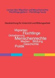 """Handreichung """"Lernen über Migration und Menschenrechte"""""""