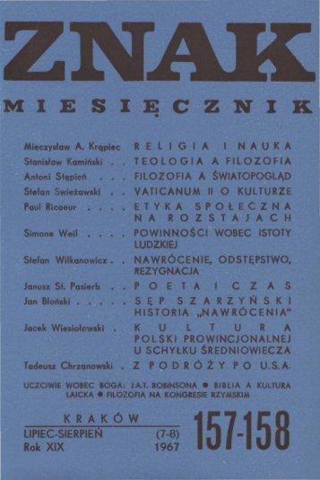 Nr 157-158, lipiec-sierpień 1967 - Znak