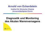 Arnold von Eckardstein - Institut für Klinische Chemie ...