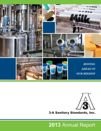 2013 Annual Report (PDF) - 3-A Sanitary Standards