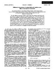 Effect of the hard-core interaction - Center for Polymer Studies ...