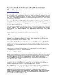 Dijital Pazarlamada Marka Yönetimi ve Sosyal Medyanın Etkileri