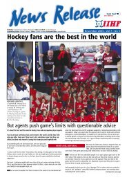 Hockey fans are the best in the world - IIHF