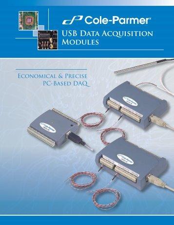 Cole-Parmer® USB Data Acquisition Modules