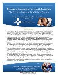 Medicaid Expansion - South Carolina Hospital Association