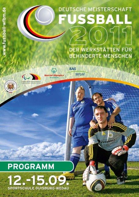 Programm Deutsche Fußball-Meisterschaft der Werkstätten für ...