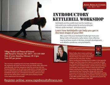 Introductory Kettlebell Workshop - Durham Health Club   Kettlebell ...