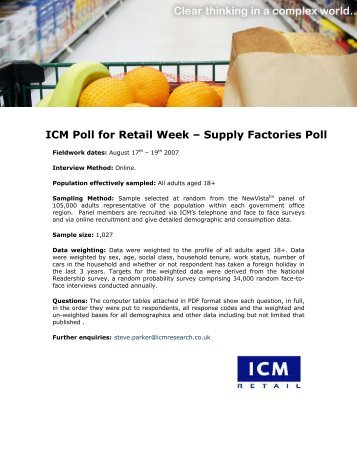 Retail Week - ICM Research