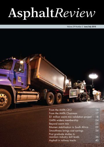 Asphalt Review - Volume 29 Number 2 (June / July 2010)