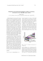 Empirical and phenomenological studies of nuclear ... - Sympnp.org