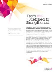 From Stretched to Strengthened: Retail industry highlights - IBM
