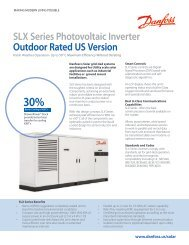 SLX Series Photovoltaic Inverter Outdoor Rated US Version - Danfoss