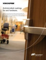 Antimicrobial coatings for exit hardware. - Ingersoll Rand Security ...