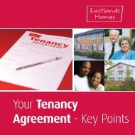 Your Tenancy Agreement - Key Points - Eastlands Homes