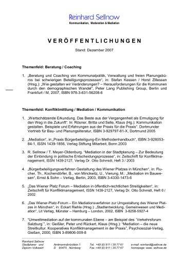 VERÖFFENTLICHUNGEN - Sellnow.de