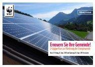 Erneuern Sie Ihre Gemeinde! - Energie Zentralschweiz