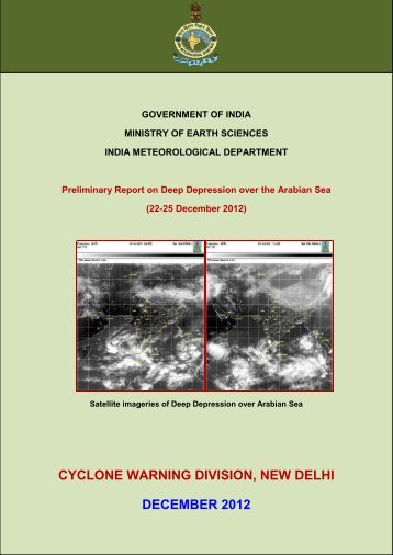 cyclone warning division, new delhi december 2012 - India ...