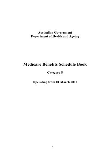 medicare benefits schedule book 2016 pdf