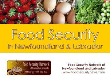 presentation - The Food Security Network of Newfoundland and ...