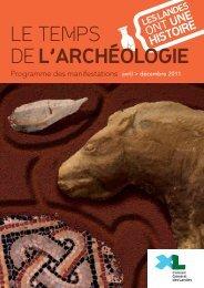 LE TEMPS DE L'ARCHÉOLOGIE - Conseil général des Landes