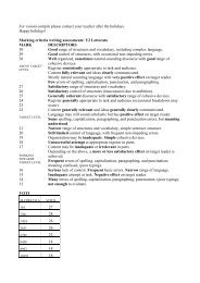 Marking criteria writing assessments: Y2 Let