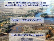 Effects of Winter Drawdown on the Aquatic Ecology of a Wisconsin ...