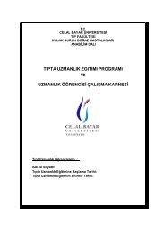 adnan menderes üniversitesi - Celal Bayar Üniversitesi Tıp Fakültesi