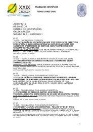 TRABALHOS CIENTÍFICOS TEMAS LIVRES ORAL - ITpack