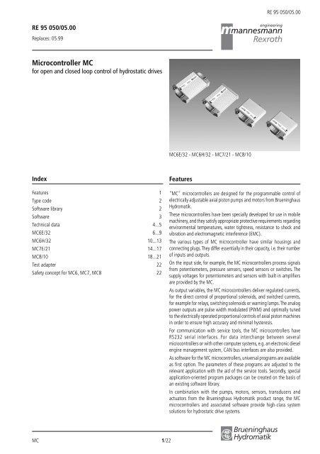 Microcontroller MC - Bosch Rexroth