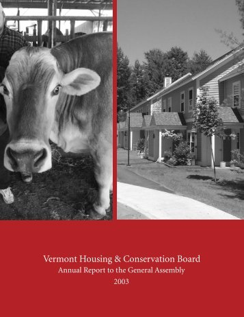 Vermont Housing & Conservation Board - Vermont Housing and ...