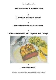 Maiscrèmesuppe mit Rauchlachs - Gabelstadler