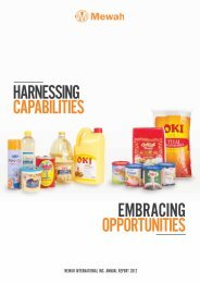 Harnessing Capabilities embraCing OppOrtunities - Mewah Group