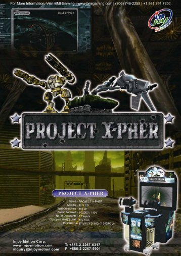 Project X-Pher STD Brochure - BMI Gaming