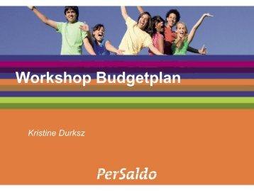 Workshop Budgetplan