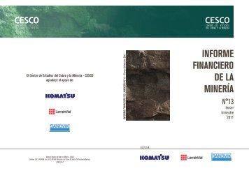 informe financiero de la mineria Nº 13 tercer ... - Minería Chilena
